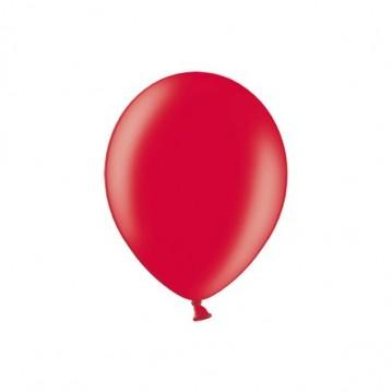 "100 stk Metallic kirsebær rød balloner - str 5"""