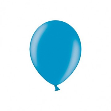 "100 stk Metallic caribbean blue balloner - str 5"""