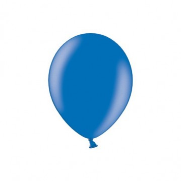 """100 stk Metallic royal blå balloner - str 5"""""""