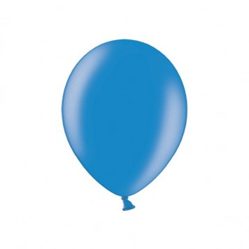 """100 stk Metallic blå balloner - str 9"""""""