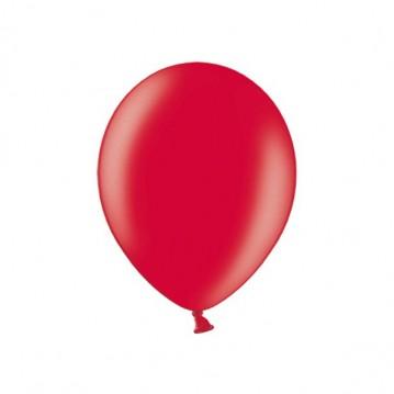 "100 stk Metallic kirsebær rød balloner - str 9"""