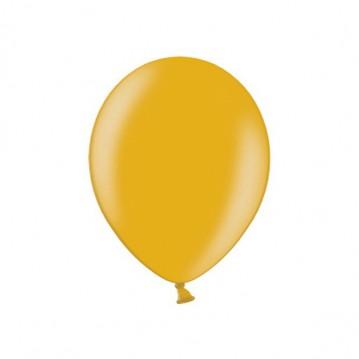 "100 stk Metallic guld balloner - str 9"""
