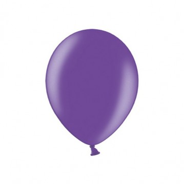 "100 stk Metallic lilla balloner - str 9"""