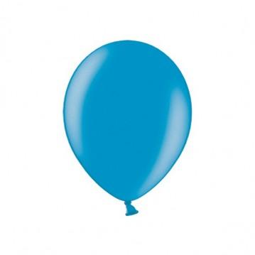 "100 stk Metallic caribbean blue balloner - str 9"""