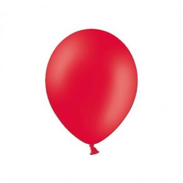 "100 stk Standard valmue rød balloner - str 9"""