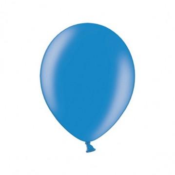 """10 stk Metallic blå balloner - str 10"""""""