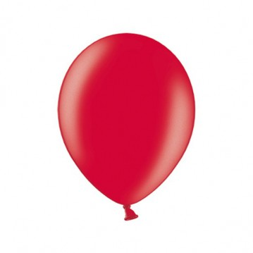 "10 stk Metallic kirsebær rød balloner - str 10"""