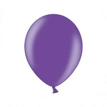 "10 stk Metallic lilla balloner - str 10"""
