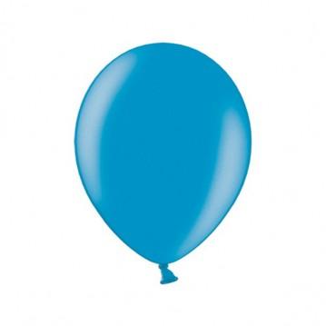 """10 stk Metallic caribbean blå balloner - str 10"""""""