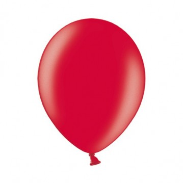 "10 stk Metallic kirsebær rød balloner - str 12"""