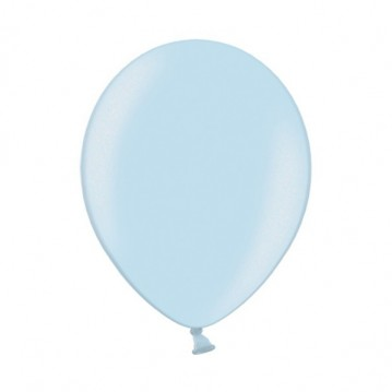 """10 stk Perle lyseblå balloner - str 12"""""""