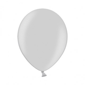 """10 stk Metallic sølv balloner - str 12"""""""