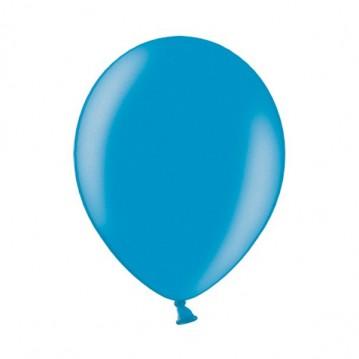 """10 stk Metallic caribbean blå balloner - str 12"""""""