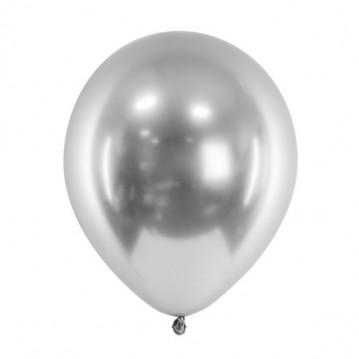 """50 stk. Chrome latex balloner - Sølv 12"""""""