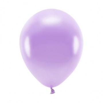 """100 stk. Økologiske metallic lavendel balloner str. 10"""""""