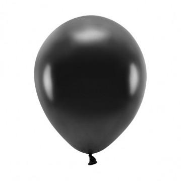 """100 stk. Økologiske metallic sort balloner str. 10"""""""