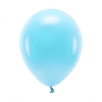 """100 stk. Økologiske lyseblå balloner str. 10"""""""