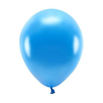 """10 stk. Økologiske metallic blå balloner str. 10"""""""