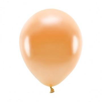 """10 stk. Økologiske metallic orange balloner str. 10"""""""