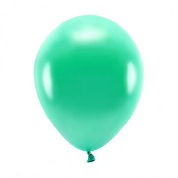 """10 stk. Økologiske metallic grøn balloner str. 10"""""""