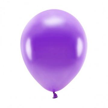 "10 stk. Økologiske metallic lilla balloner str. 10"""