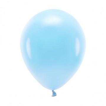 """10 stk. Økologiske himmelblå balloner str. 10"""""""