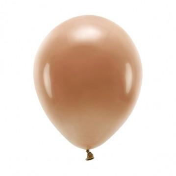 "10 stk. Økologiske chokolade brun balloner str. 10"""