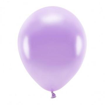 """10 stk. Økologiske metallic lavendel balloner str. 12"""""""