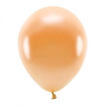 """10 stk. Økologiske metallic orange balloner str. 12"""""""