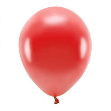 """10 stk. Økologiske metallic mørkerød balloner str. 12"""""""