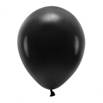 """10 stk. Økologiske sort balloner str. 12"""""""
