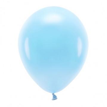 """10 stk. Økologiske himmelblå balloner str. 12"""""""
