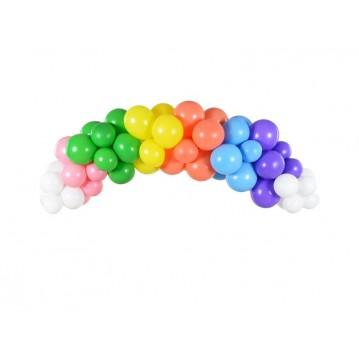 Ballonguirlande - Regnbue sæt 2 meter