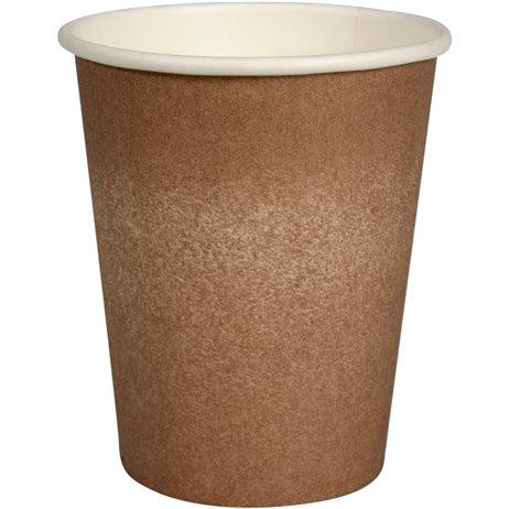 50 stk Kaffebæger Coffee to Go, Brun 240ml