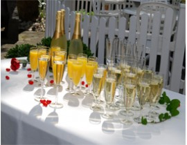Champagneglas i plastik