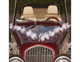 Fronthjelm pynt til bryllupsbilen