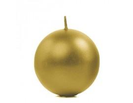 Metallic Kuglelys 6 cm