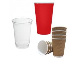 Pap, termo og plastbæger