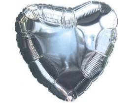 Ensfarvede hjerte folieballoner