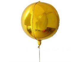 Ensfarvede bold 4D folieballoner